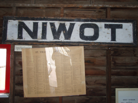 Niwot Depot Sign
